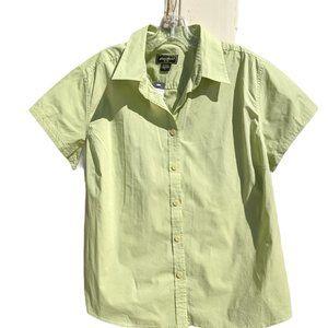 NWT Eddie Bauer Button Front Shirt - Green - XL